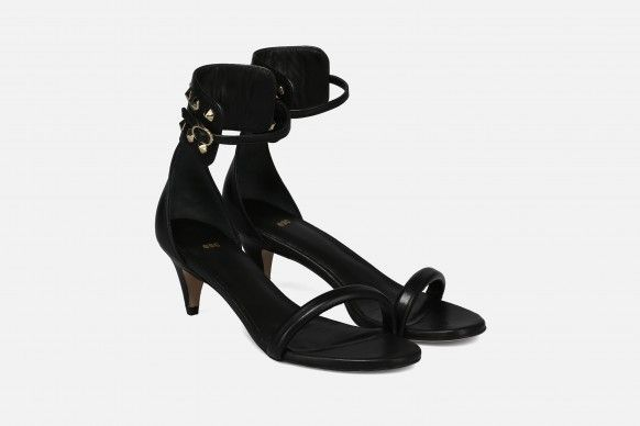 SAINTS Mid Heel Sandals